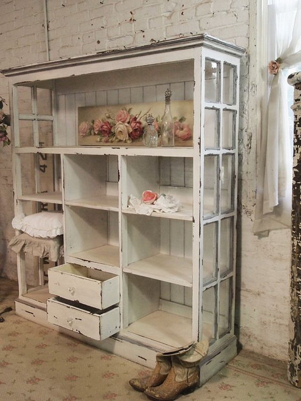 Shabby chic display shelf.