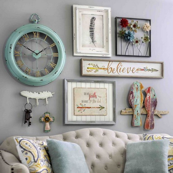 Bring a shabby chic charm to your home by adding pieces of wall decor. They are full of bright colors, one-of-a-kind styles and vintage designs!
