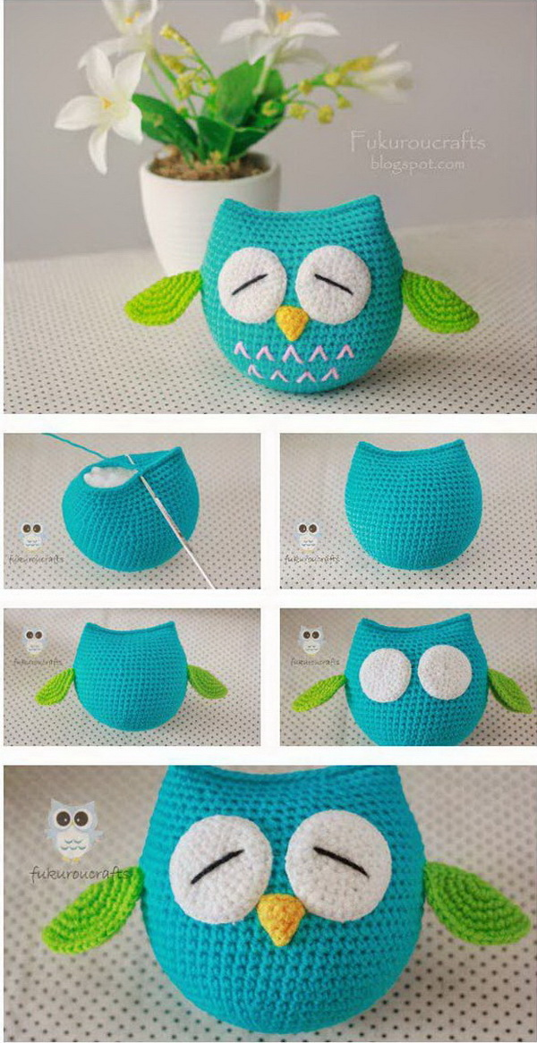Lovely Crochet Owls. Crochet owls are fun and easy to hook for crochet beginners. It looks so adorable and lovely as the home ornaments or used as gifts for kids!