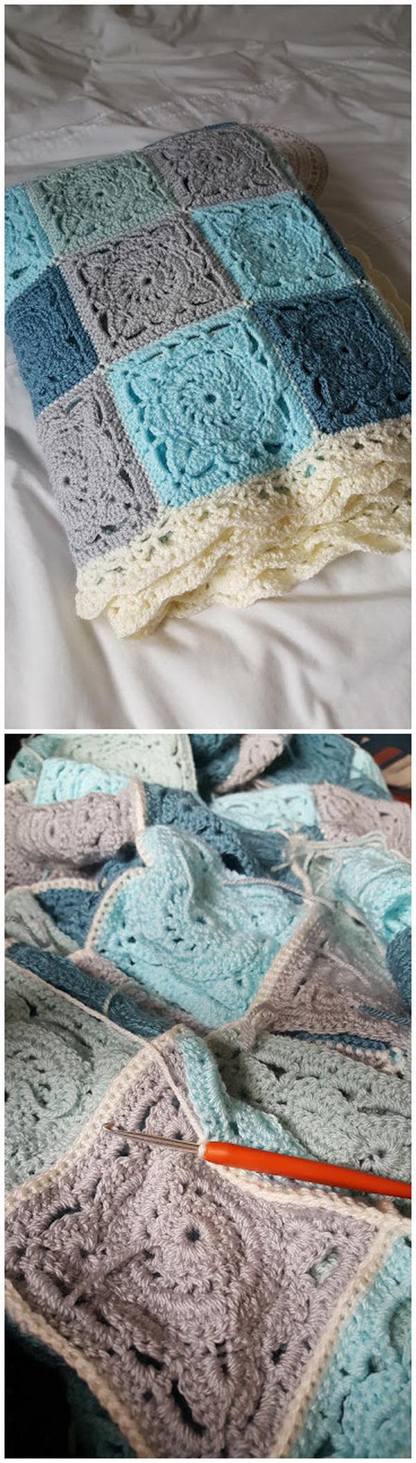 Crochet Willow Square Blanket.