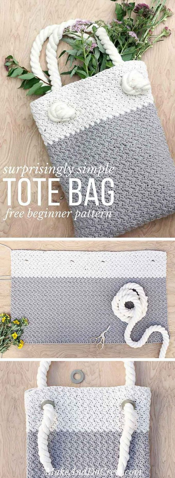 Crochet Market Bag For Beginners. This free crochet market tote bag is super simple to make and requires only single and double crochet stitches. It can be the perfect modern tote bag for market or used as a oversized purse.