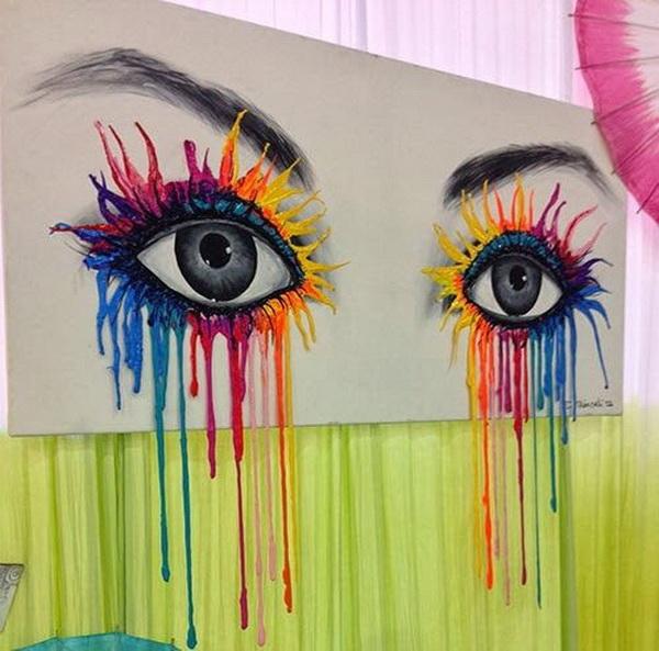 Eye Candy & Fun . Fantastic Melted Crayon Art Ideas.