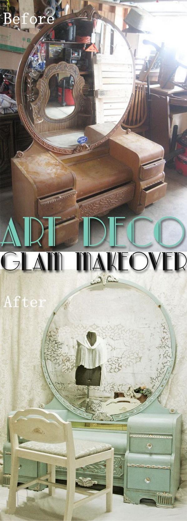 DIY Furniture Makeovers: Art Dressing Table Redo.