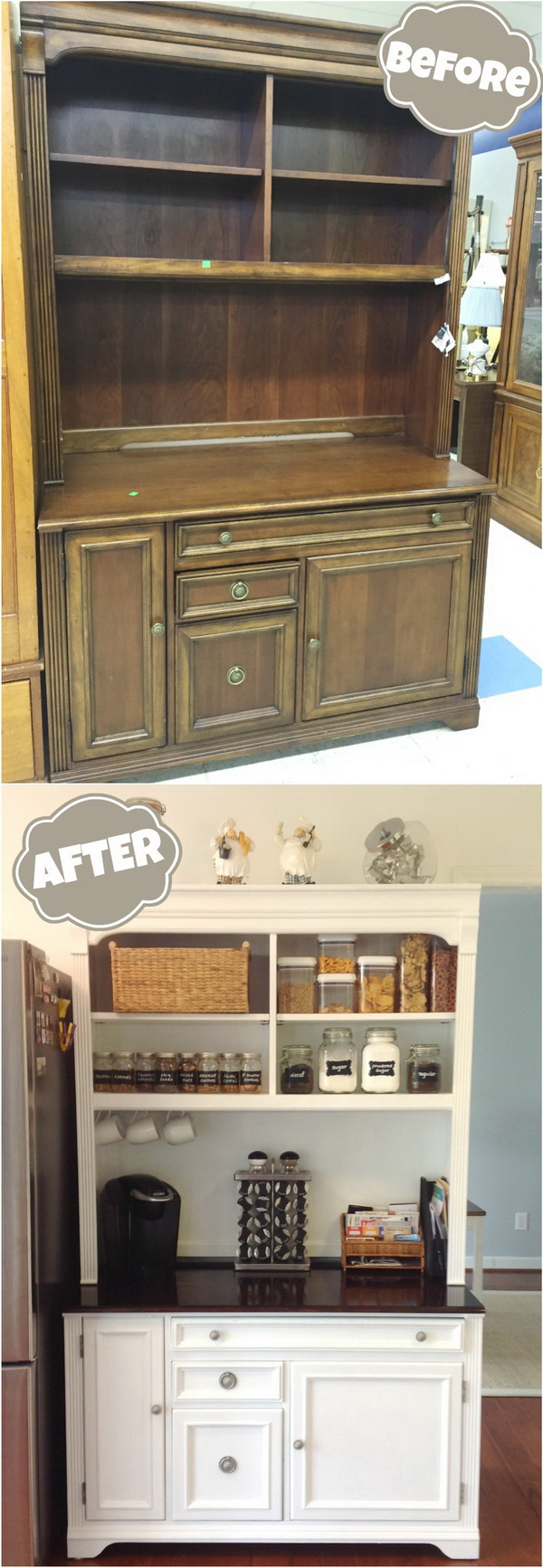 DIY Furniture Makeovers: Thrift Store Hutch Makeover.