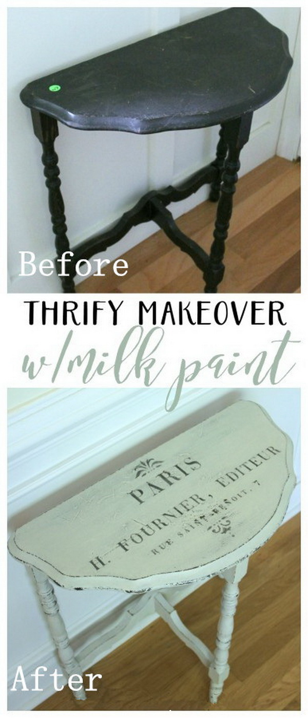 DIY Furniture Makeovers: Thrifty Makeover with MMS Milk Paint.