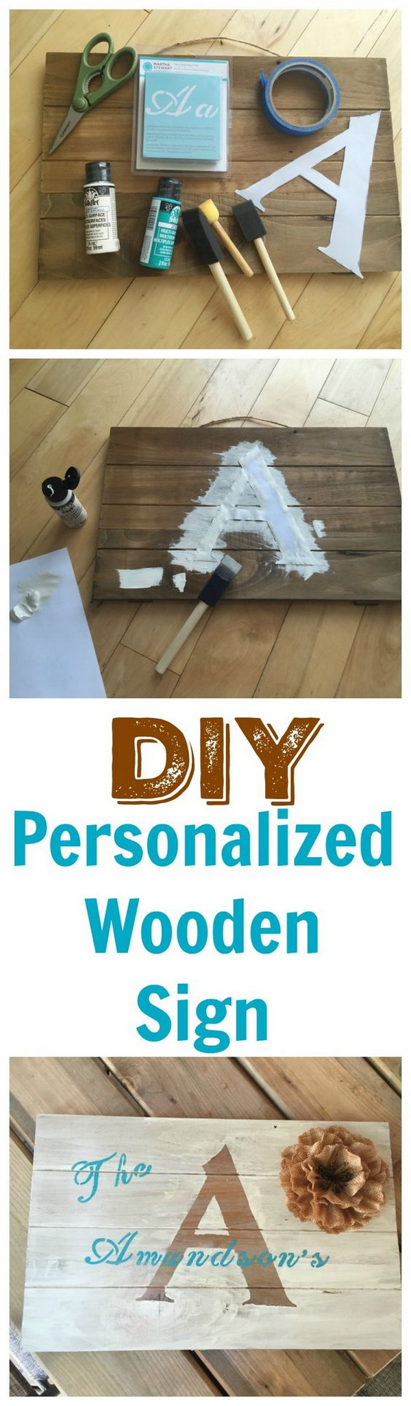 DIY Personalized Wooden Sign.
