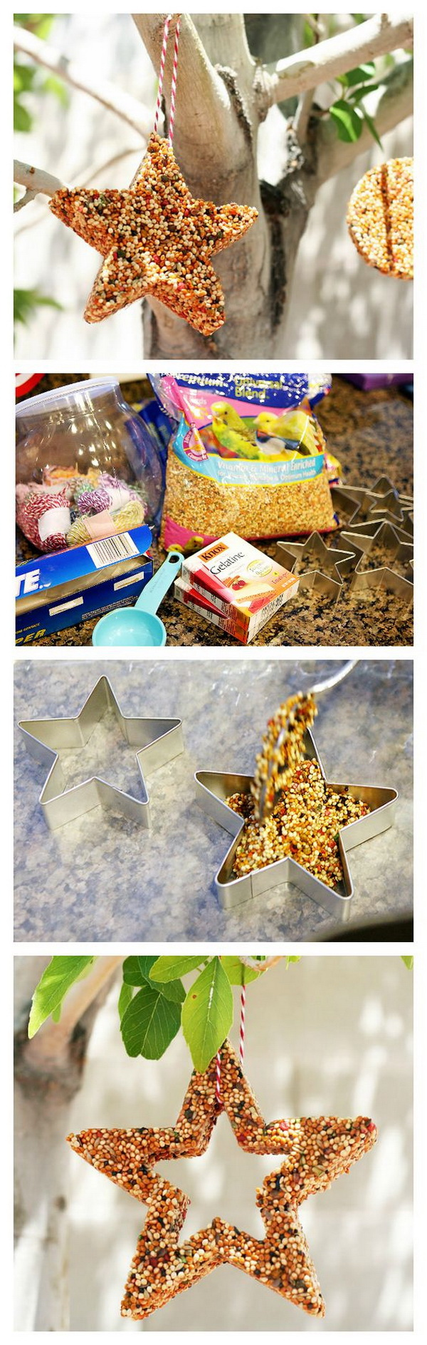 Easy Kids Craft Ideas: Homemade Bird Feeders.