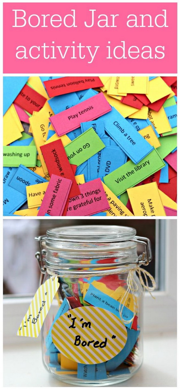 Easy Kids Craft Ideas: Ultimate summer activities lists and bored Jar lists.