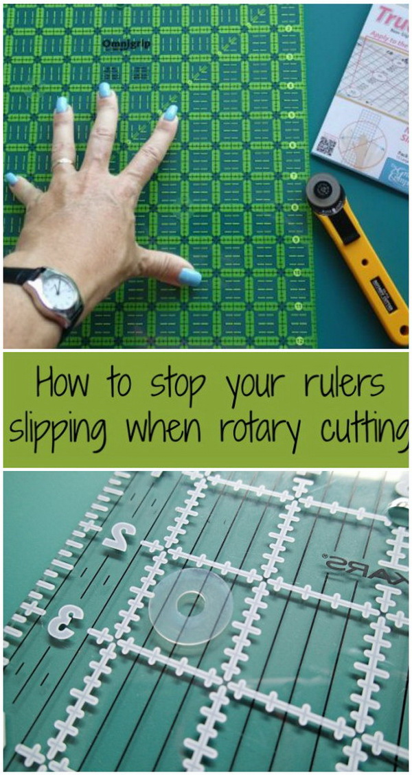 Sewing Hacks: TrueGrips Non-Slip Pads For Rulers.