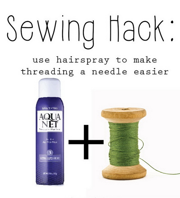 Sewing Hacks: Needle Threading Secret.