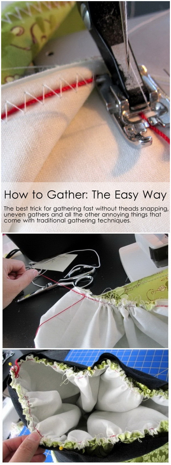 Sewing Hacks: Gather The Easy Way.