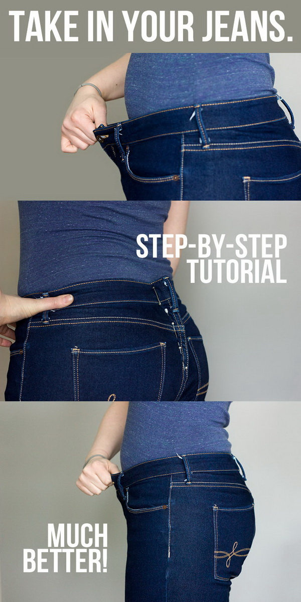Best Sewing Tips & Tricks: How to Take in a Jeans Waist.