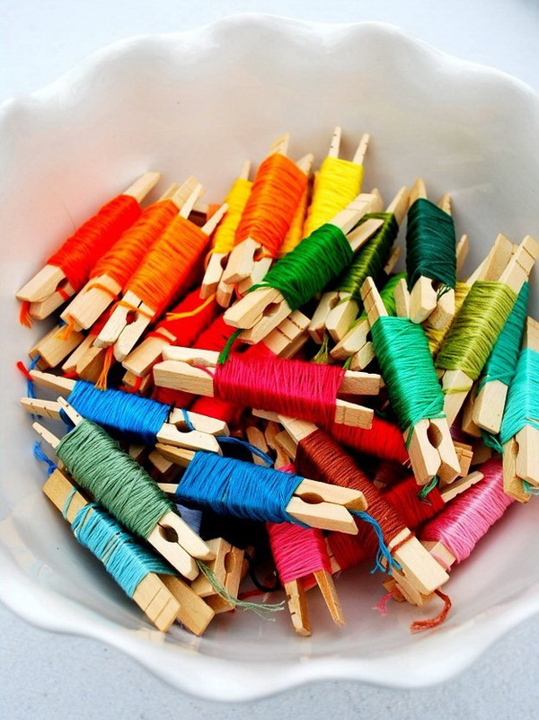 Best Sewing Tips & Tricks: Organizing Embroidery Floss.