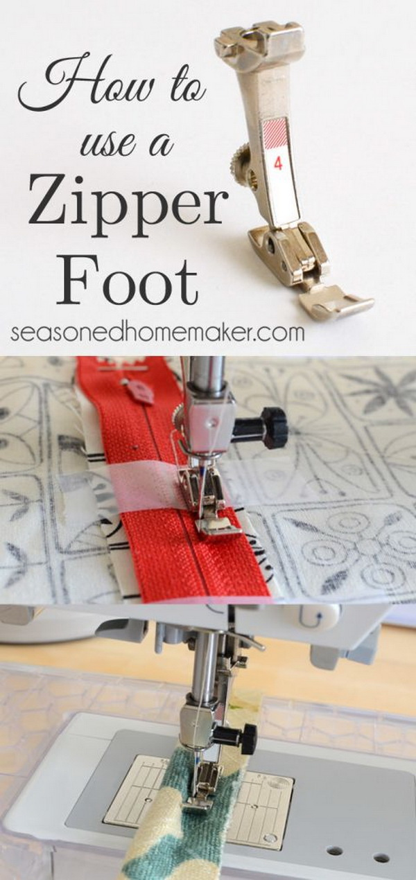 Best Sewing Tips & Tricks: How to Use A Zipper Foot.