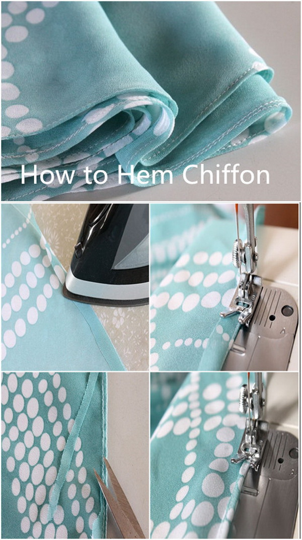 Best Sewing Tips & Tricks: How to Hem Soft Chiffon.