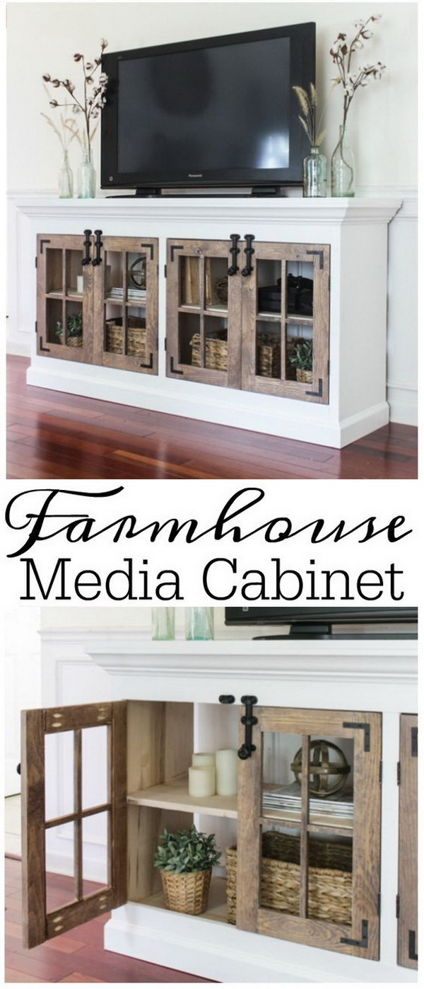 Farmhouse Media Cabinet.