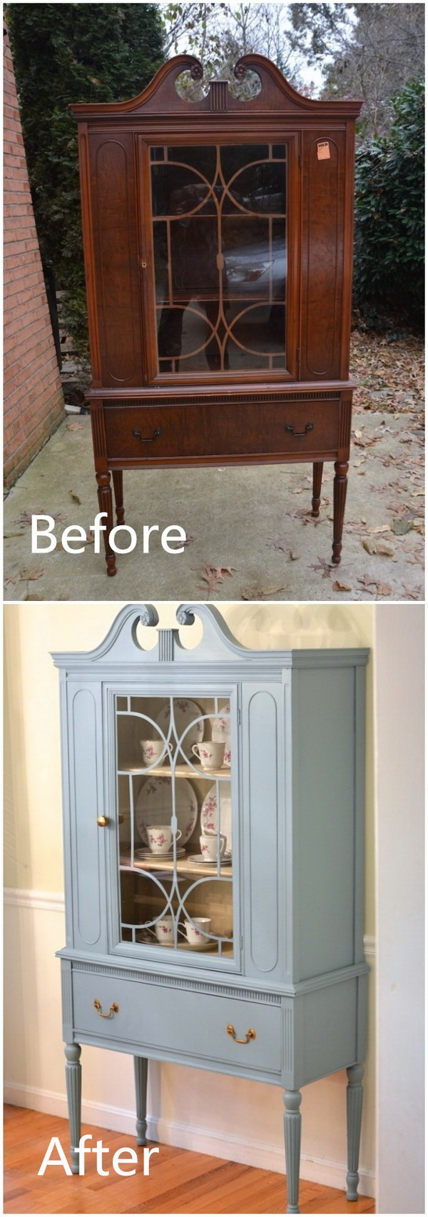 Before & After: Thrifted China Cabinet Makeover.