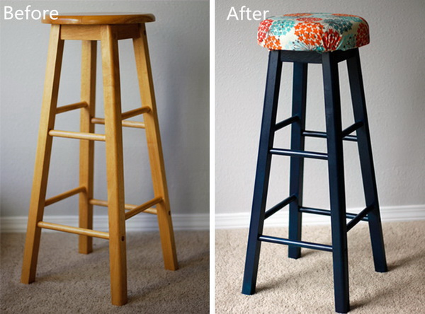 Funiture Makeovers: DIY Bar Stool Makeover.