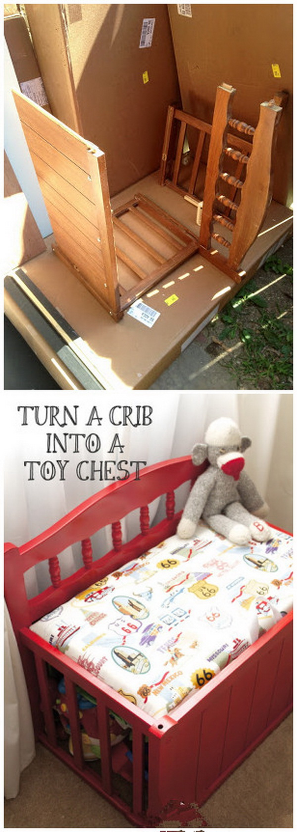 Funiture Makeovers: From Old Crib to New Toy Ches.