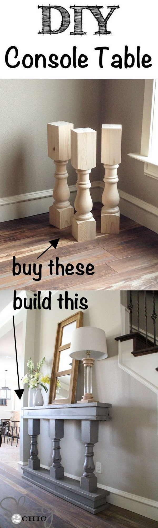 Funiture Makeovers: DIY Console Table.