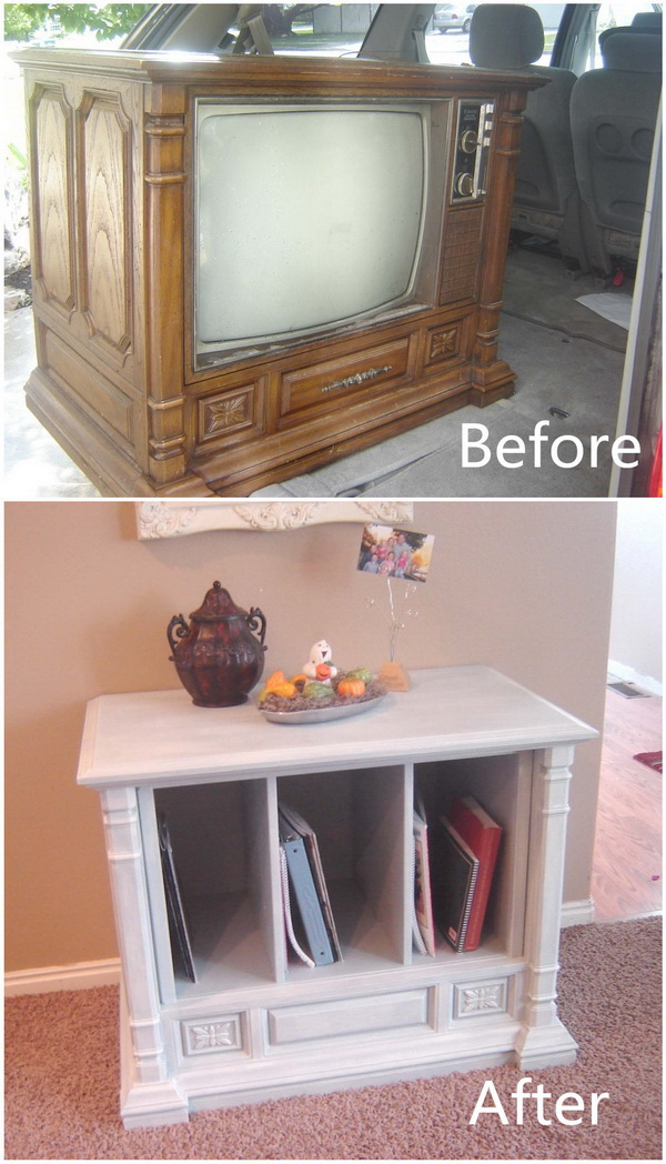 Funiture Makeovers: Curb Side TV Transformation.