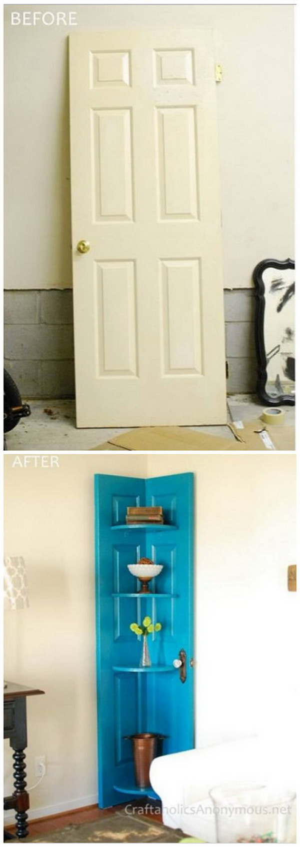 Funiture Makeovers: DIY Door Shelf Tutorial.