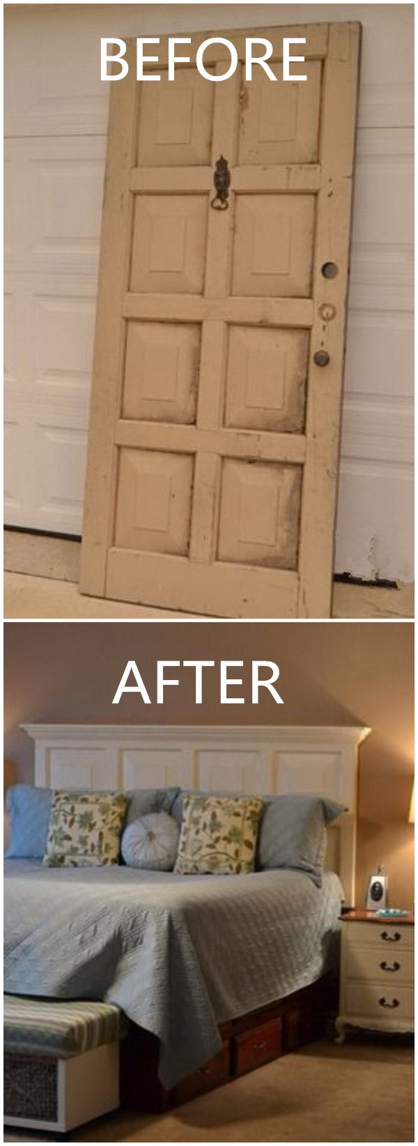 Funiture Makeovers: Door Headboard.