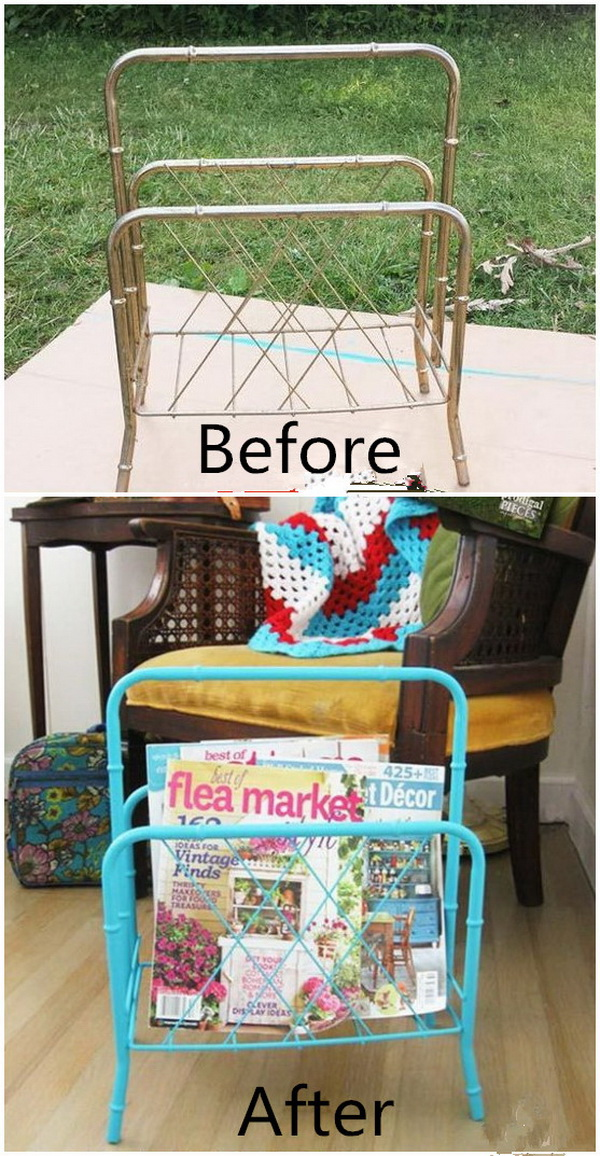 Funiture Makeovers: Old Furniture Make over with Spray Paints.
