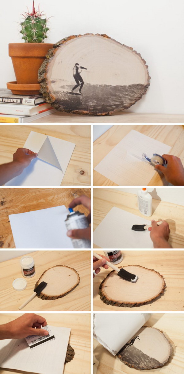 DIY Artwork with Transfer Ink to Wood.