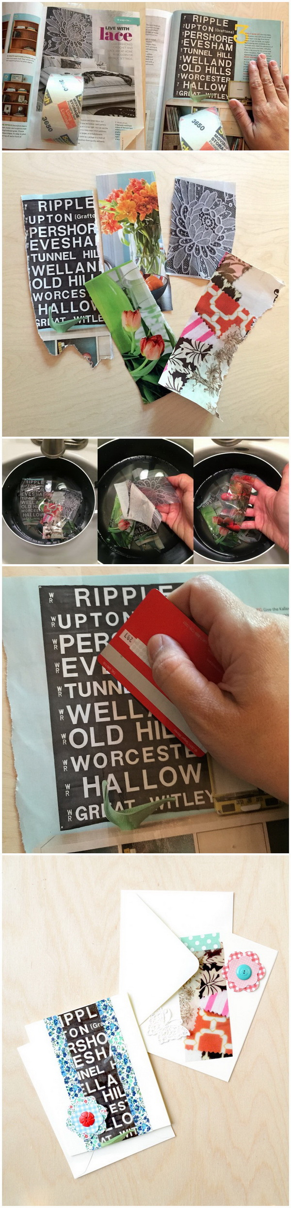 How To Do A Packaging Tape Image Transfer.