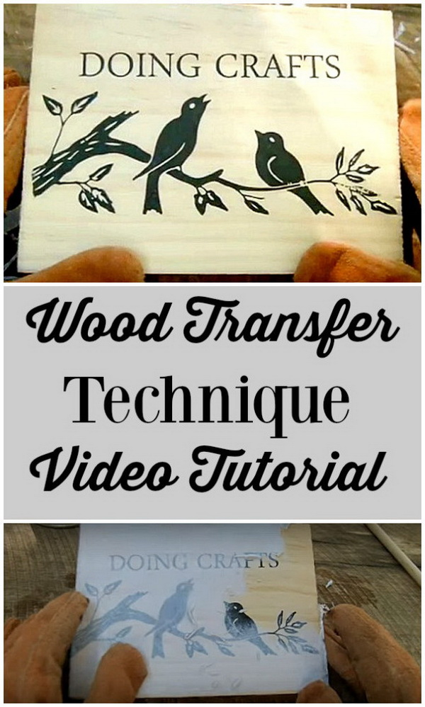 How to Transfer Photos to Wood.