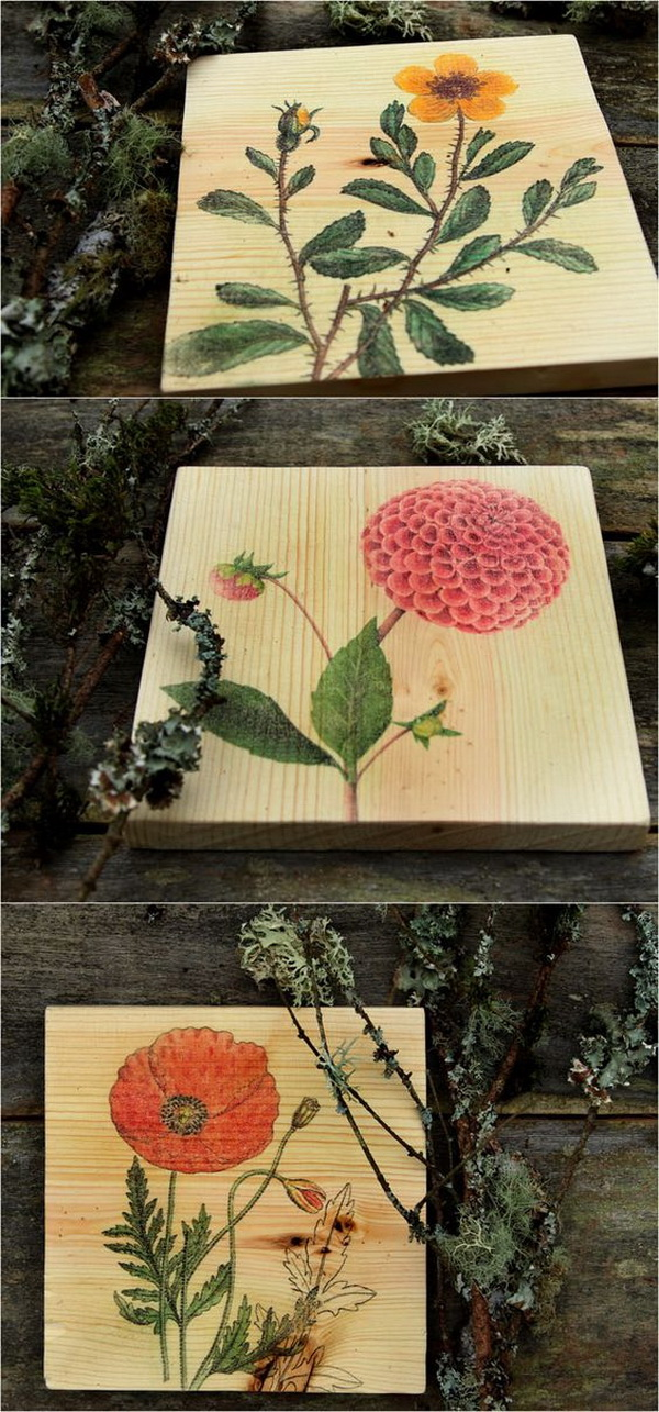DIY Wall Art & How To Transfer Image To Wood.