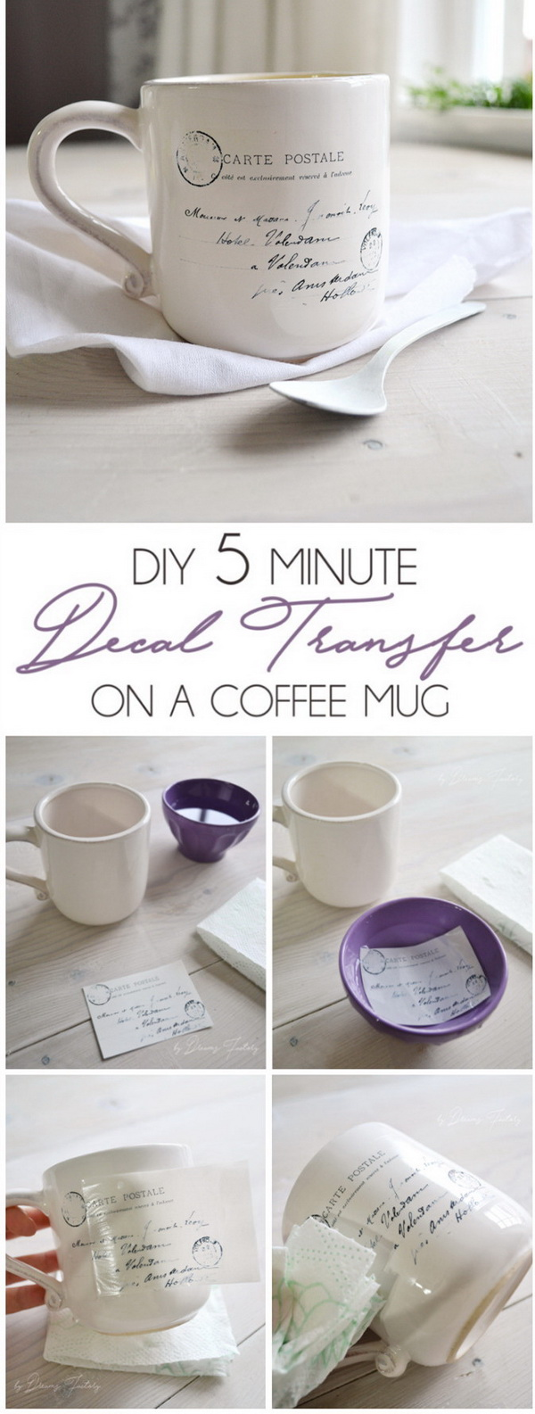DIY 5 Minute Decal Transfer On A Coffee Mug.