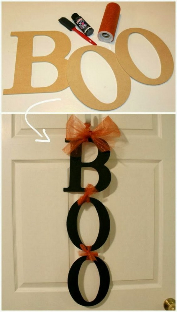 DIY. BOO sign.