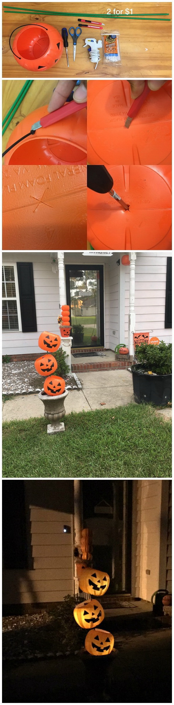 Tipsy Plastic Pumpkin Decoration.