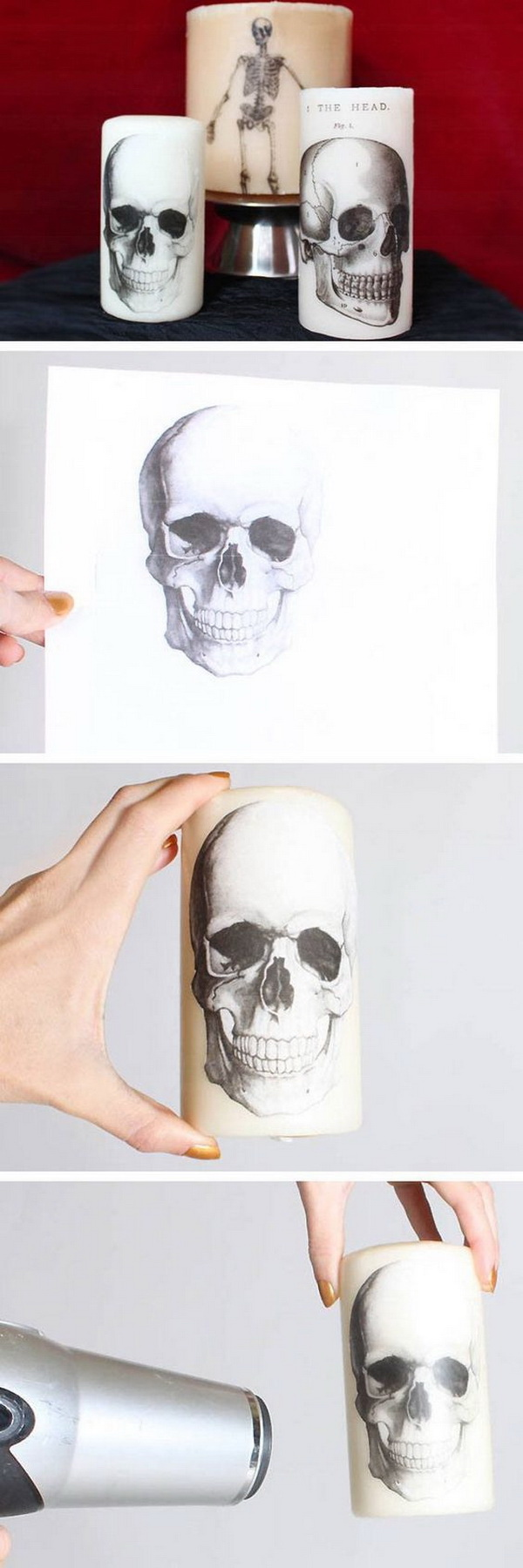 DIY Printed Halloween Candles.