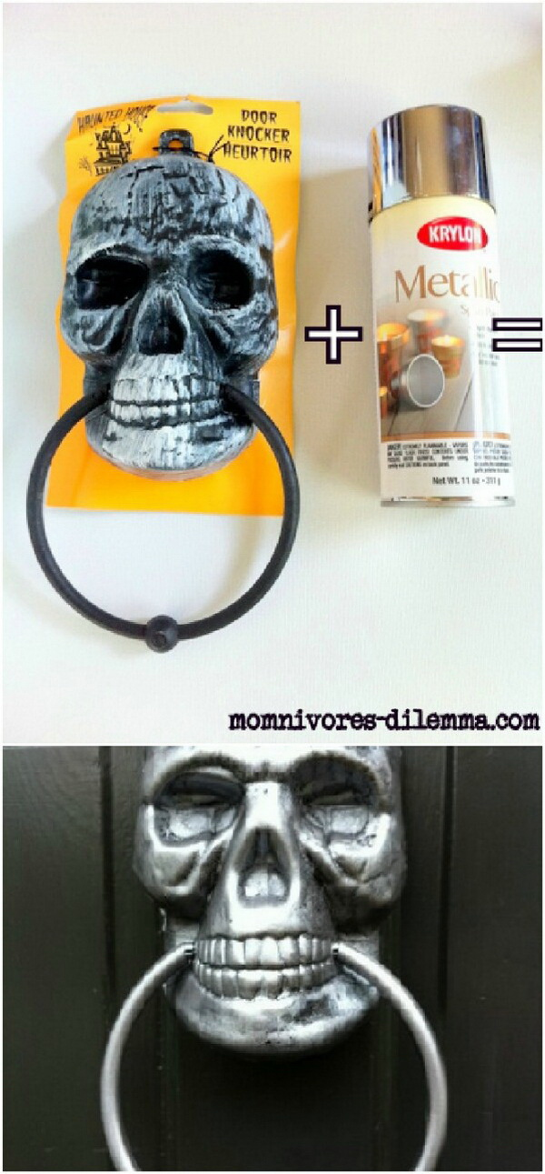 Metallic Skull Door Knocker.