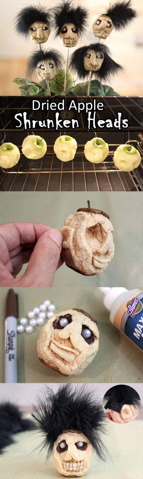 Dried Apple Shrunken Head.