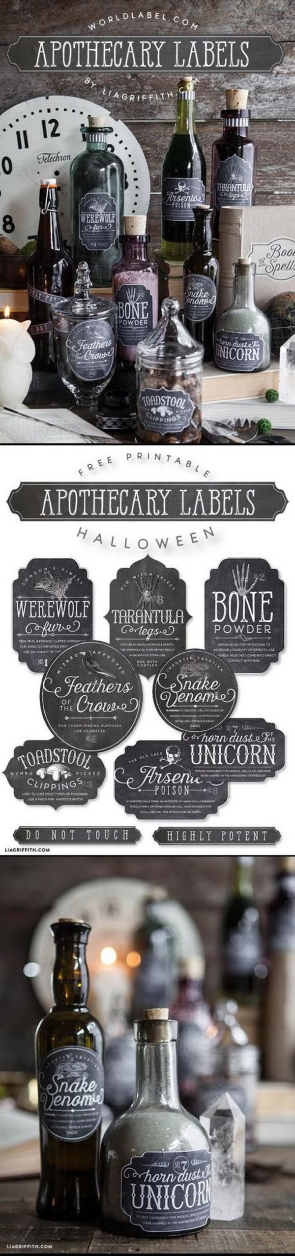 Halloween Bottles Decorations.