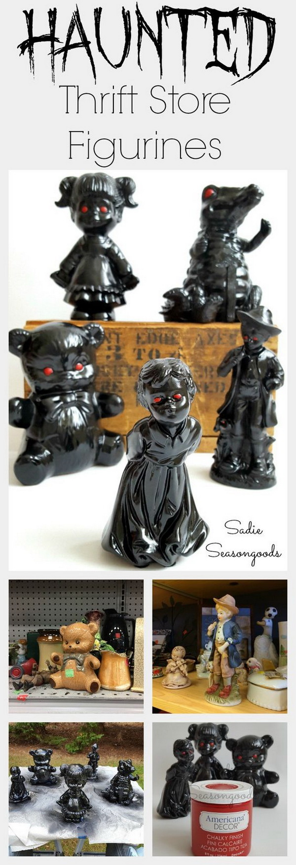 "Halloween Motley Crew: ""Haunted"" Figurines."