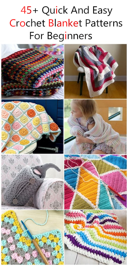 Quick And Easy Crochet Blanket Patterns For Beginners.