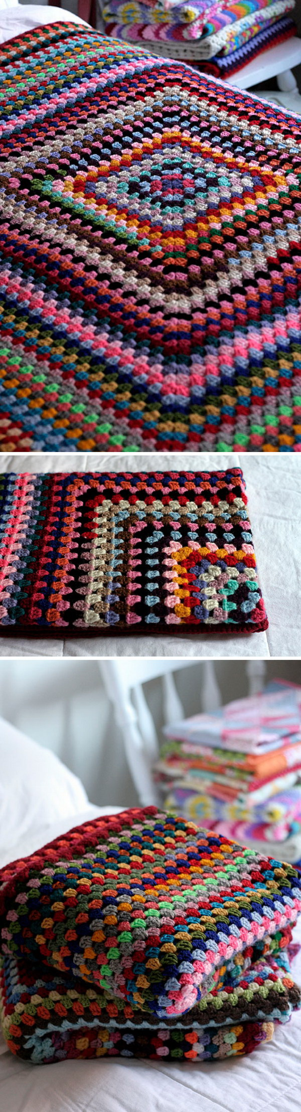 Quick And Easy Crochet Blanket Patterns For Beginners: Giant Granny Square Blankets. .