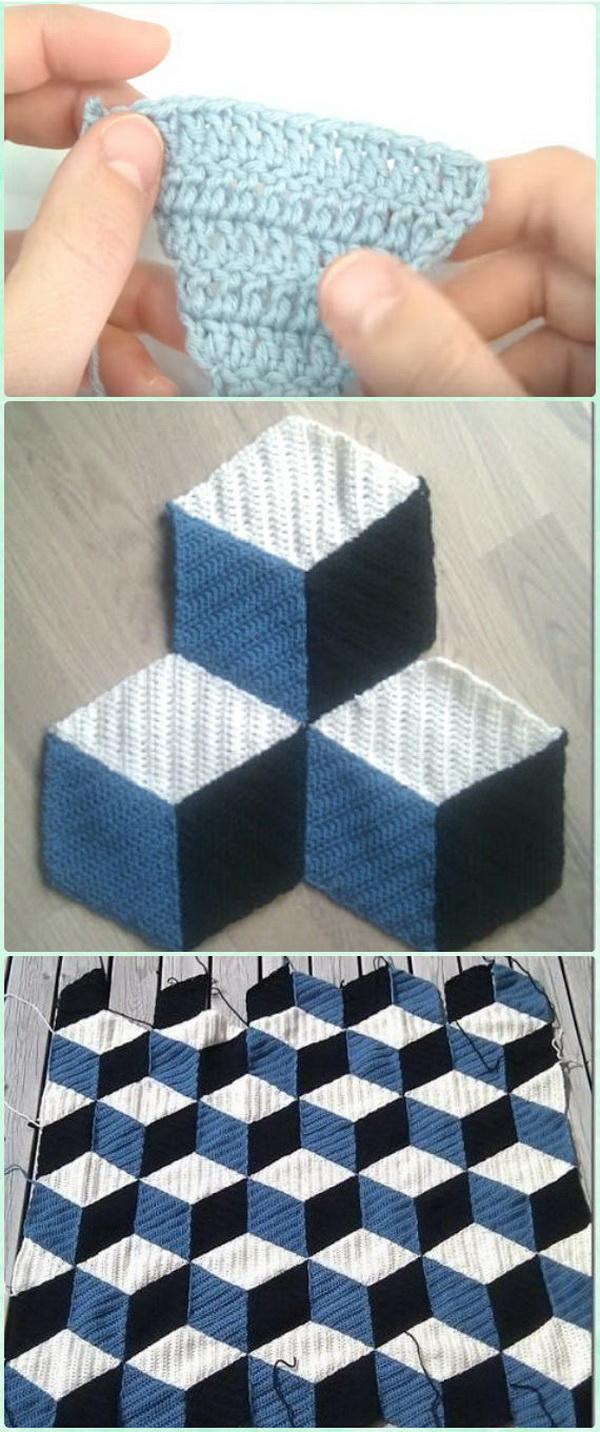 Quick And Easy Crochet Blanket Patterns For Beginners: Crochet Block Blanket Free Patterns.
