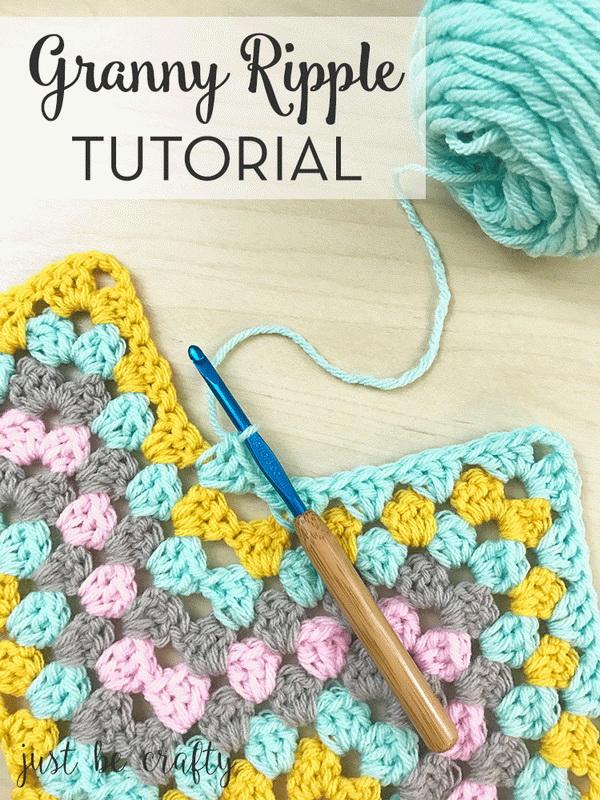 Quick And Easy Crochet Blanket Patterns For Beginners: Granny Ripple Crochet Blanket.