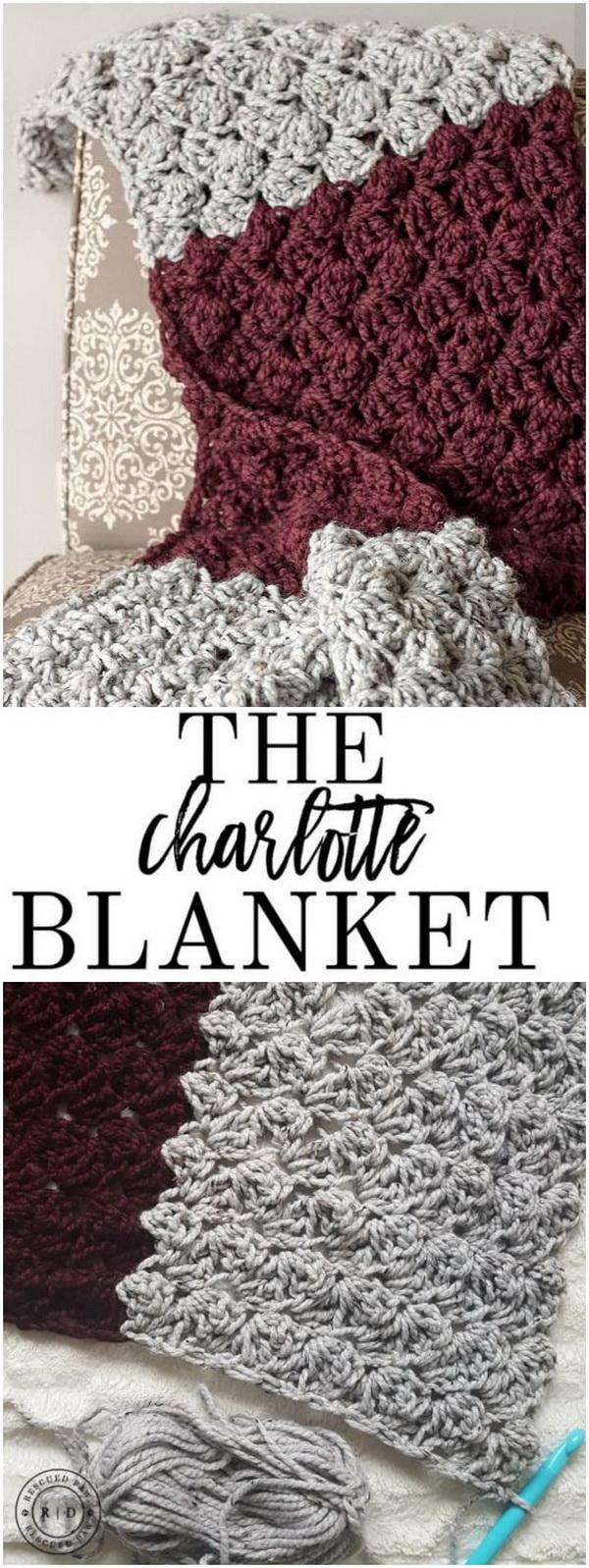 Quick And Easy Crochet Blanket Patterns For Beginners: Charlotte Crochet Blanket.