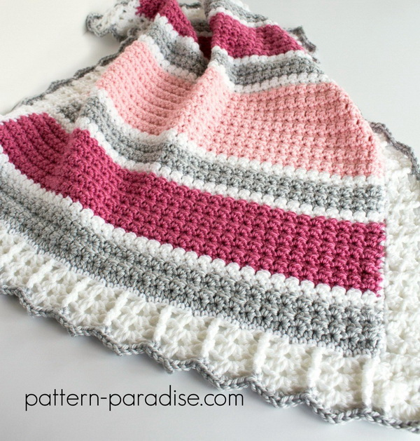 Quick And Easy Crochet Blanket Patterns For Beginners: Beautiful Baby Blanket Pattern With Many Color Choices.