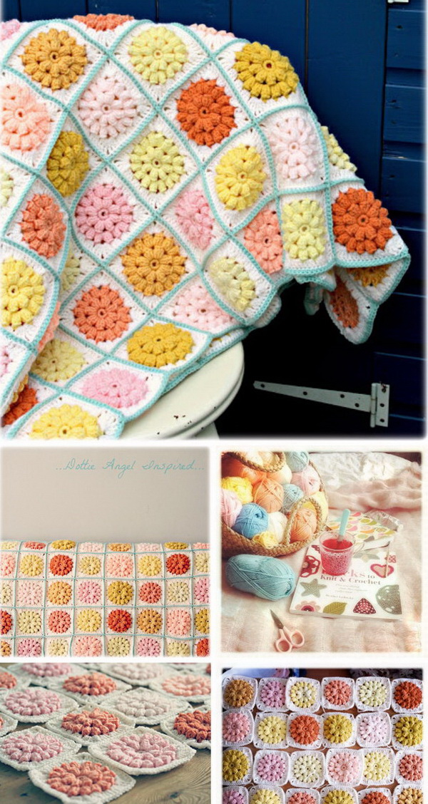 Quick And Easy Crochet Blanket Patterns For Beginners: Granny Squares Blanket Free Pattern.