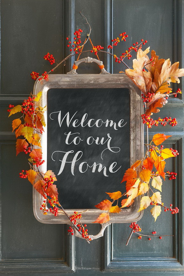 Fall Chalkboard Sign. Welcome the upcoming fall and Thanksgiving season with this festive chalkboard sign!