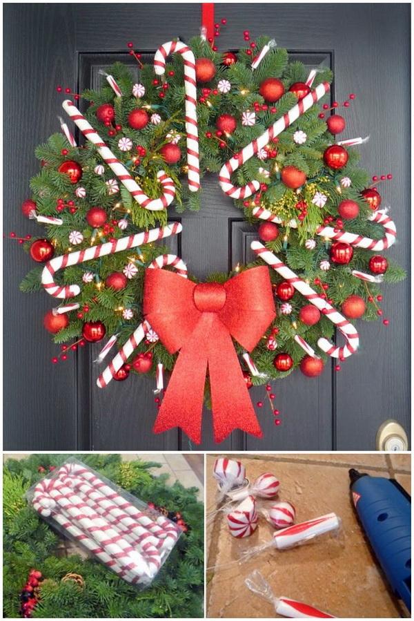 Peppermint Wreath for Christmas.