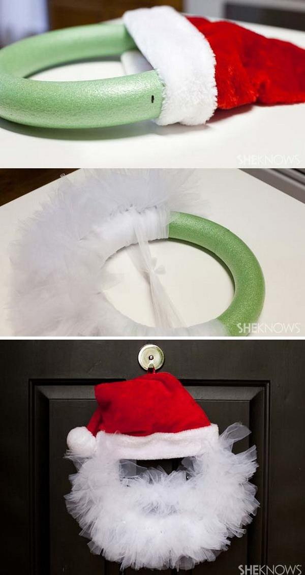 Tulle Santa Wreath.